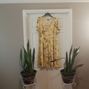 Yellow Flower Sami & Jo Midi Dress